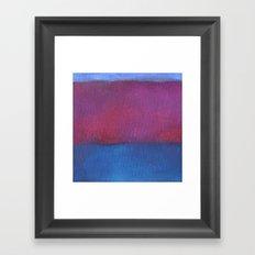 Pink Striped Cliff Framed Art Print