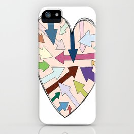 Which Way To Your Heart? iPhone Case