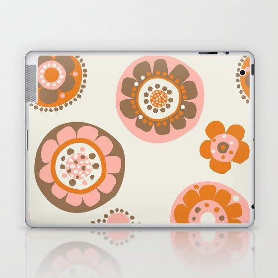 retro flowerspot-java Laptop & iPad Skin