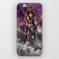 Leather warrior girl iPhone & iPod Skin