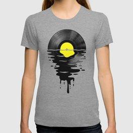 Vinyl LP Record Sunset yellow T-shirt