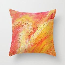 Lava Marble Throw Pillow