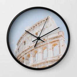 Colosseum III / Rome, Italy Wall Clock