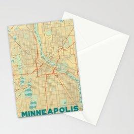 Minneapolis Map Retro Stationery Cards