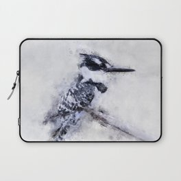 Pied Kingfisher Bird Print Watercolour A4, Animal Poster Print, Birds Digital Prints, Poster Print, Laptop Sleeve