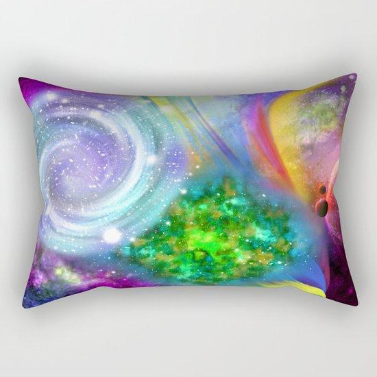 Rainbow space Rectangular Pillow