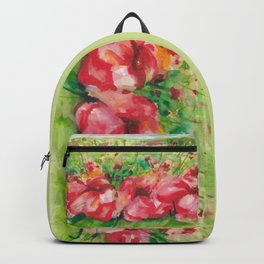 Red Flower Field Watercolors Backpack