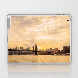 Golden sunset over New York city Laptop & iPad Skin