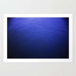 Surface of the Deep Blue Sea Art Print