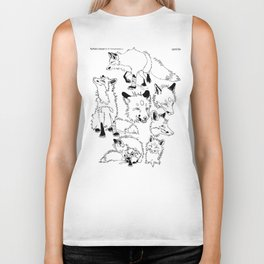 Lord Fox character design, ink Biker Tank
