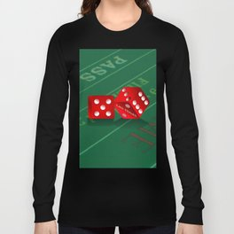 Craps Table & Red Las Vegas Dice Long Sleeve T-shirt