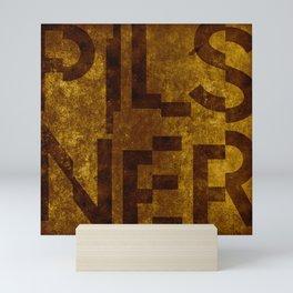 Pilsner Beer Typography Mini Art Print