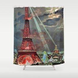 The Eiffel Tower, Paris, France by Georges Garen Shower Curtain