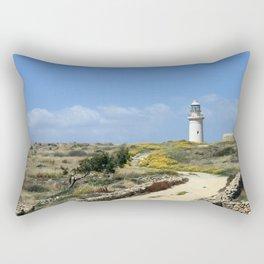 Lighthouse in Paphos Rectangular Pillow