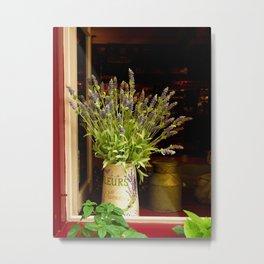Lavender in an open window Metal Print