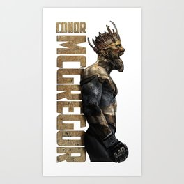 King of UFC conor mcgregor Art Print