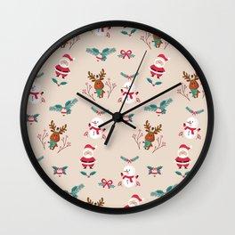 Christmas Puppets Wall Clock
