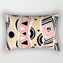 Four Waves - Black Orange Yellow Rectangular Pillow