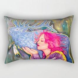 Blue Shadow Rectangular Pillow