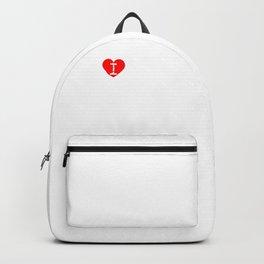 I heart Lamp (love lamp) | Big and Bold Design Backpack