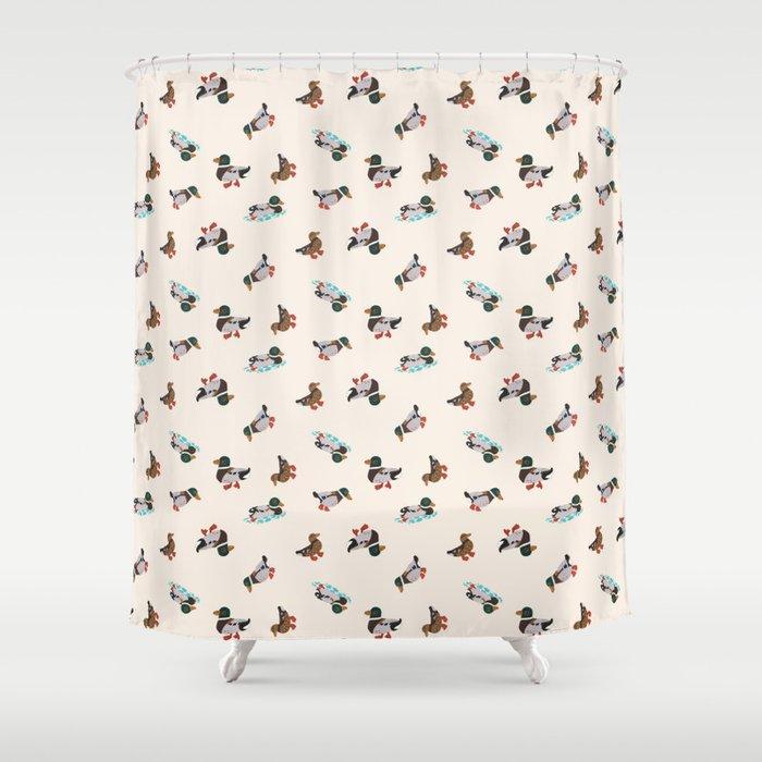 Mallard Duck Shower Curtain By Anukunhamala