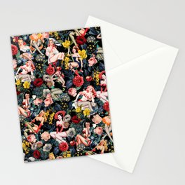 Floral and Pin-Up Girls IV Stationery Cards