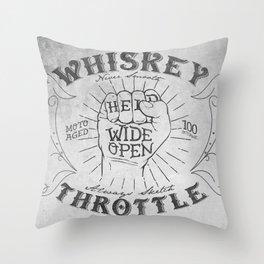 Whiskey Throttle  Throw Pillow