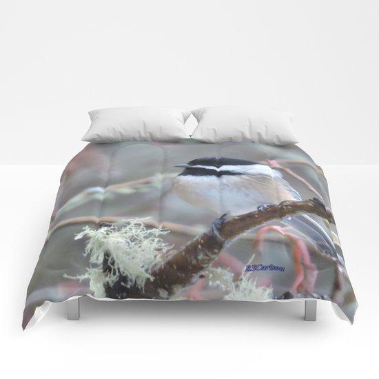 Chickadee in the Alder Tree Comforters
