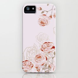 FRENCH PALE ROSES iPhone Case