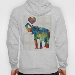 Colorful Elephant Art - Elovephant - By Sharon Cummings Hoody