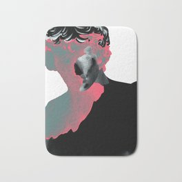 Eraserhead - crimson Bath Mat