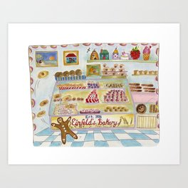 """THE BAKERY [""""Pat-a-cake, pat-a-cake, baker's man / Bake me a cake as fast as you can!""""] Art Print"""