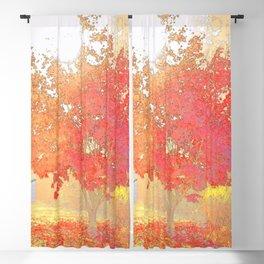 Fiery Blackout Curtain