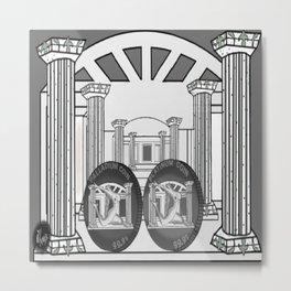 Necropolis Coins Palladium and Platinum Metal Print