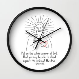 Put On The Armour Of God Wall Clock