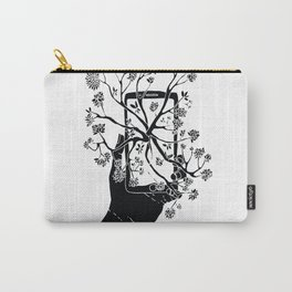 Break Free Cellphone Illustration - Hand holding cellphone growing a tree. Carry-All Pouch