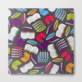 So Many Colorful Books... Metal Print