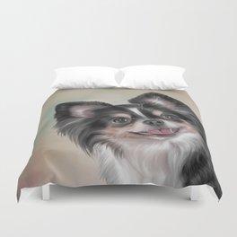 Drawing dog Chihuahua Duvet Cover
