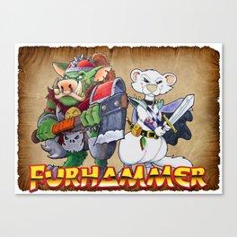 "Furhammer ""P'Orc and Dark Ferret"" Canvas Print"