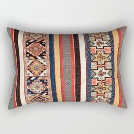 Salé  Antique Morocco North African Flatweave Rug Print Rectangular Pillow