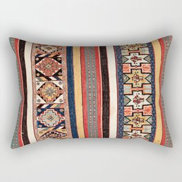 Salé  Antique Morocco North African Flatweave Rug Print Rectangular Pillow