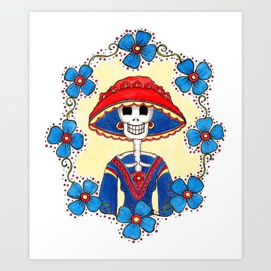 Catrina Doña Amelia Art Print