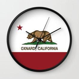 Oxnard California Republic Flag Wall Clock