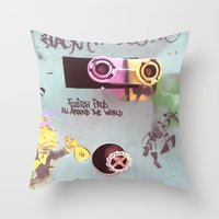 wall e Throw Pillows featuring WALL-E by Oy Photography