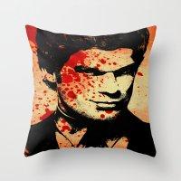 dexter Throw Pillows featuring Dexter by 2b2dornot2b