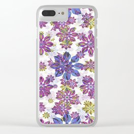 Stylized Floral Ornate Pattern Clear iPhone Case