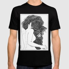 asc 590 - Le peigne (Combing her hair) Black LARGE Mens Fitted Tee