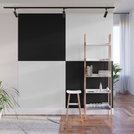 Black & White Squares Wall Mural