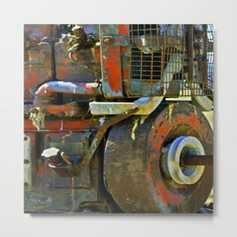 The Red Contraption Metal Print