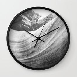 ANTELOPE CANYON XIII (B+W) Wall Clock